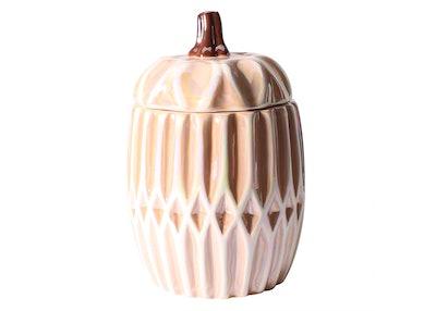 11.5oz Ceramic Pumpkin Candle With Lid Pumpkin Spice