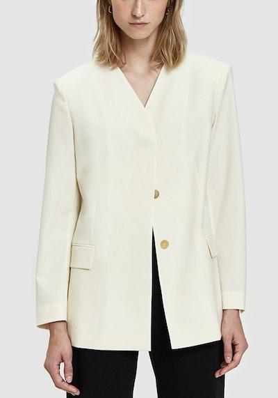 Collarless Minimal Jacket