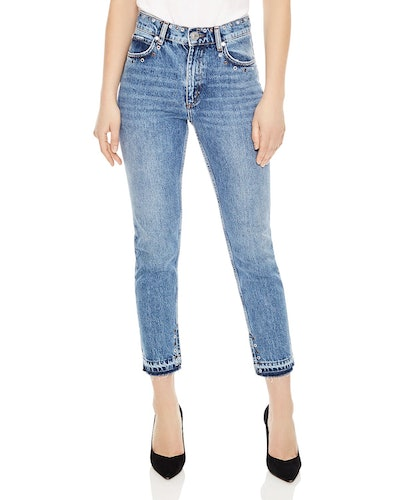 Slim-Fit Jeans With Eyelets