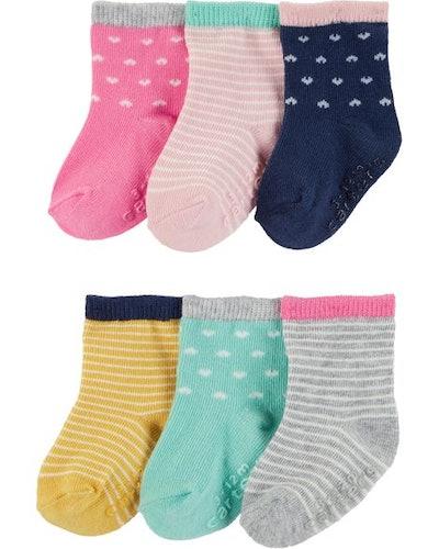 6-Pack Heart Crew Socks