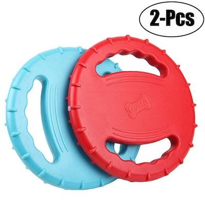 Legendog Flying Disc Rubber Dog Toy (2-Pack)