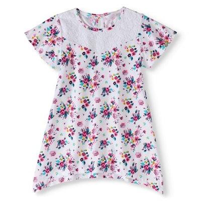 Girls' Lace Neck Shirt