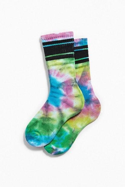 Tie-Dye Sport Stripe Sock