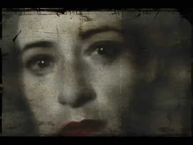 woman's face from bon iver video