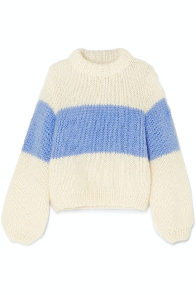 Julliard Striped Mohair And Wool-Blend Sweater