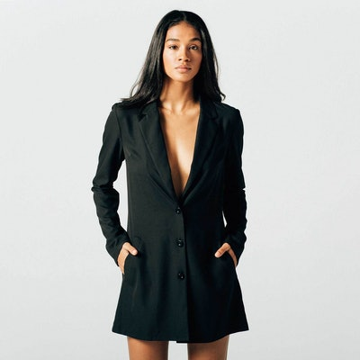 Womens Blazer Dress In Black
