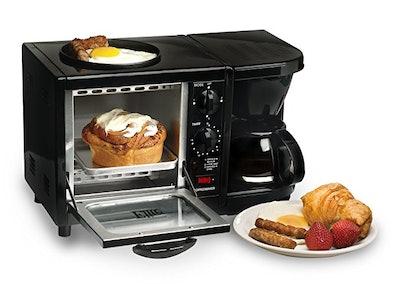 Elite Cuisine Maxi-Matic 3-in-1 Multifunction Breakfast Center, Black