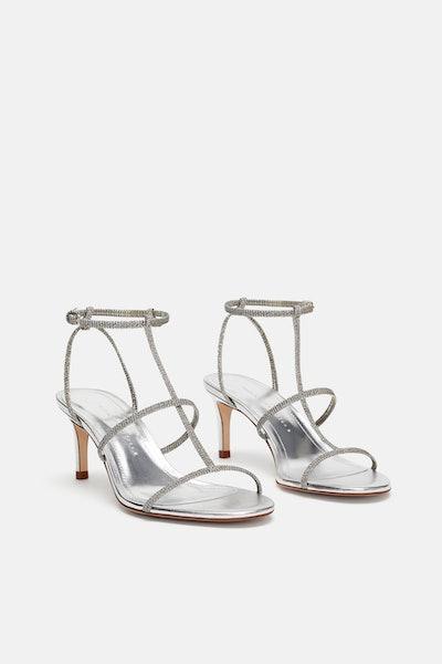 Heeled Sandal With Laminated Straps