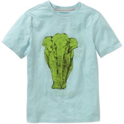 Boys' Elephant Short Sleeve T-Shirt