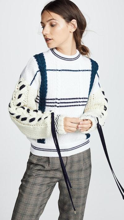 Corset Sleeve Sweater