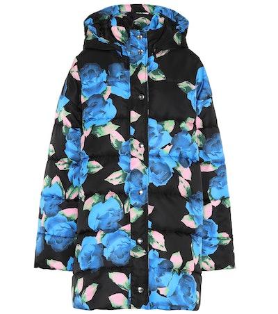 Floral-Printed Puffer Coat