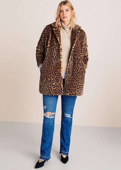Animal Print Faux Fur Coat