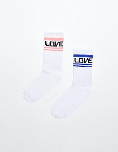 Pack of 2 Pairs Of 'Love' Socks