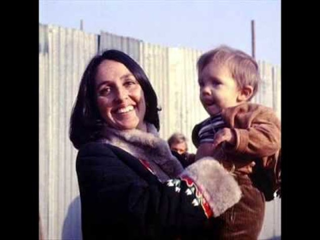 Joan Baez and her son