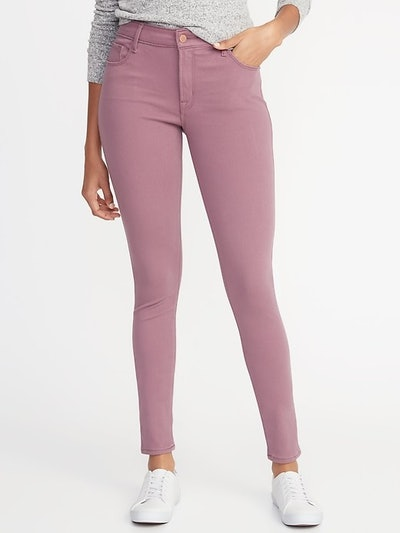 Mid-Rise Rockstar 24/7 Pop-Color Super Skinny Jeans for Women