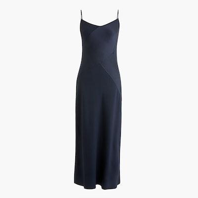 Collection Mixed Satin-Crepe Slip Dress