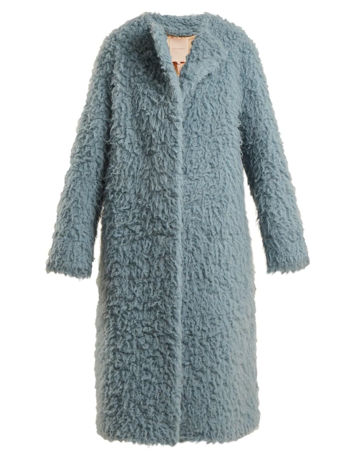 Textured Camel Hair Coat