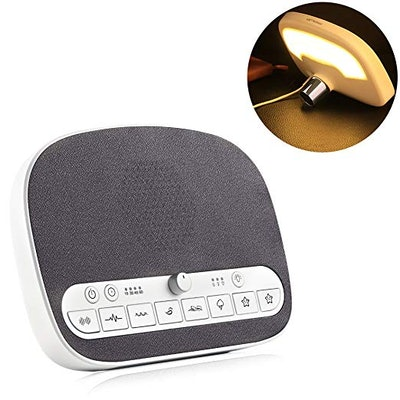 PROALLER White Noise Machine With Night Light
