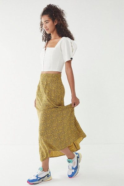 Overdyed Floral Skirt
