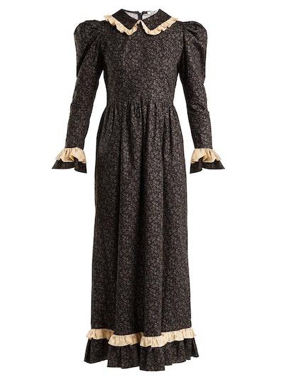Floral-Print Prairie Dress