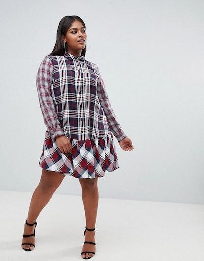 Check Print Dress