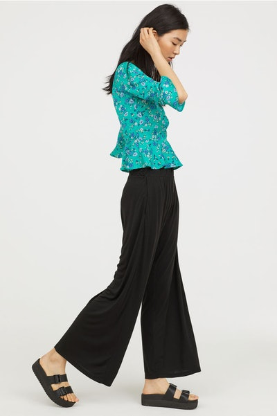 Wide-Cut Jersey Pants