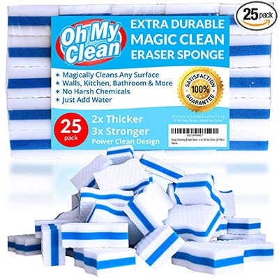 Oh My Clean Extra Durable Magic Eraser Sponges (Pack of 25)
