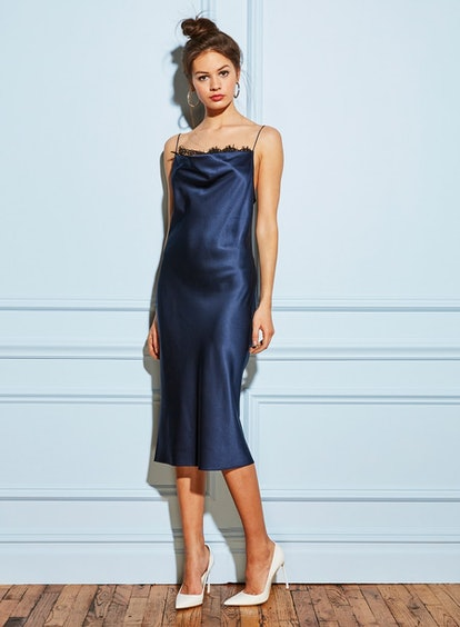 Lace Cowl Neck Slip Dress