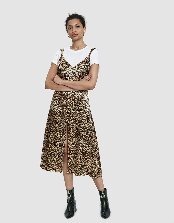 Suzette Leopard Print Slip Dress