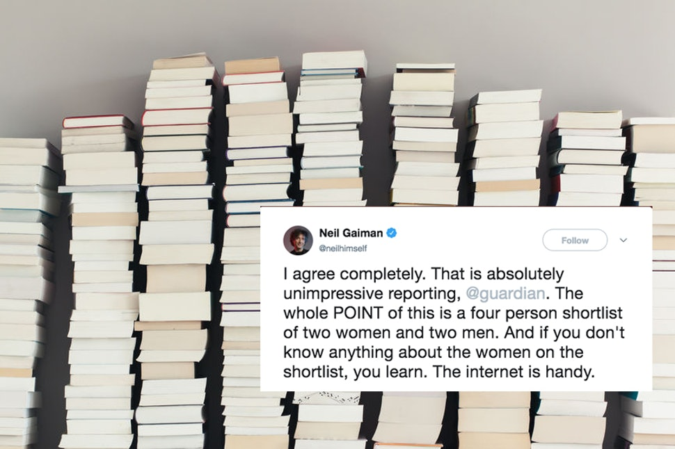 Writers On Twitter Are Calling Out The Guardian For Coverage Of A Literary Award That Virtually Ignored The Female Finalists by Kristian Wilson for Bustle