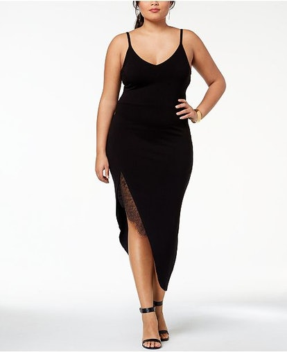 Lace-Trim Plus-Size Slip Dress