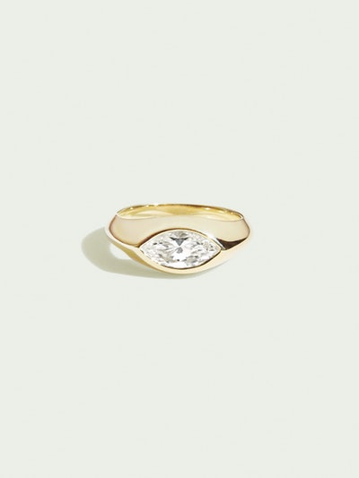 Sienna I Marquise Signet Ring