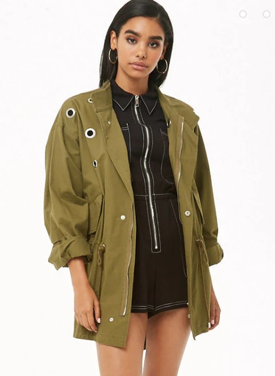 Grommet Zip-Front Jacket