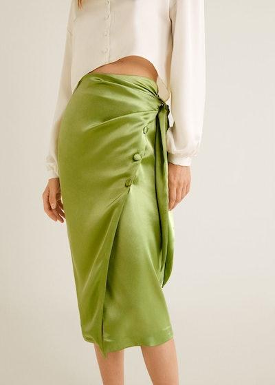 Bow Satin Skirt