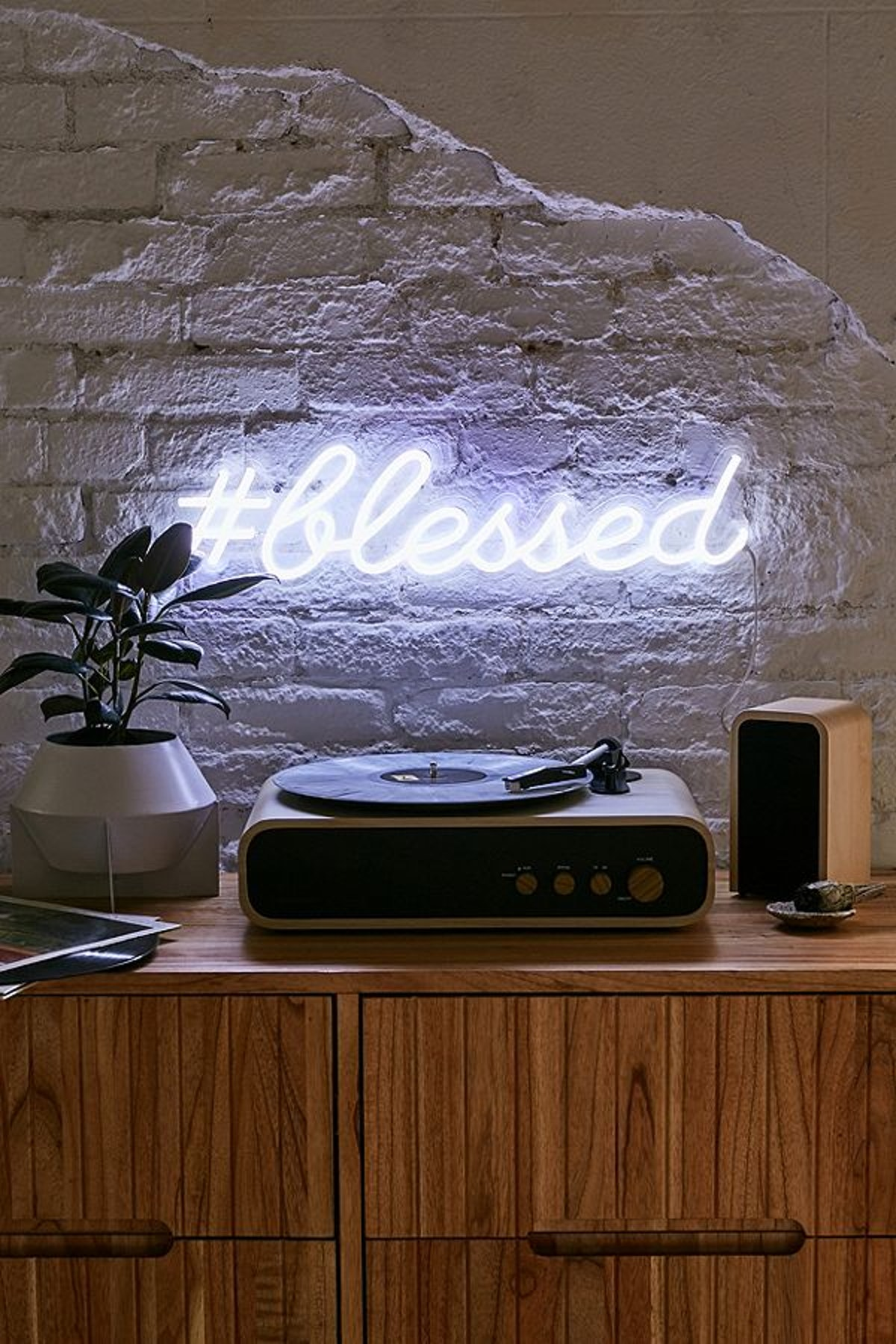 The Oliver Gal Artist Co. #Blessed LED Neon Sign