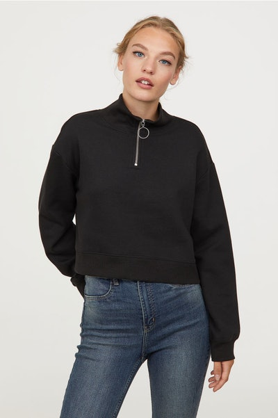 Stand Up Collar Sweatshirt