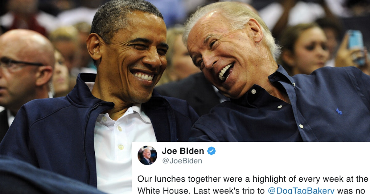 Joe Biden's Birthday Tweet To Obama Is Making Twitter Ugly Cry All Over The Place