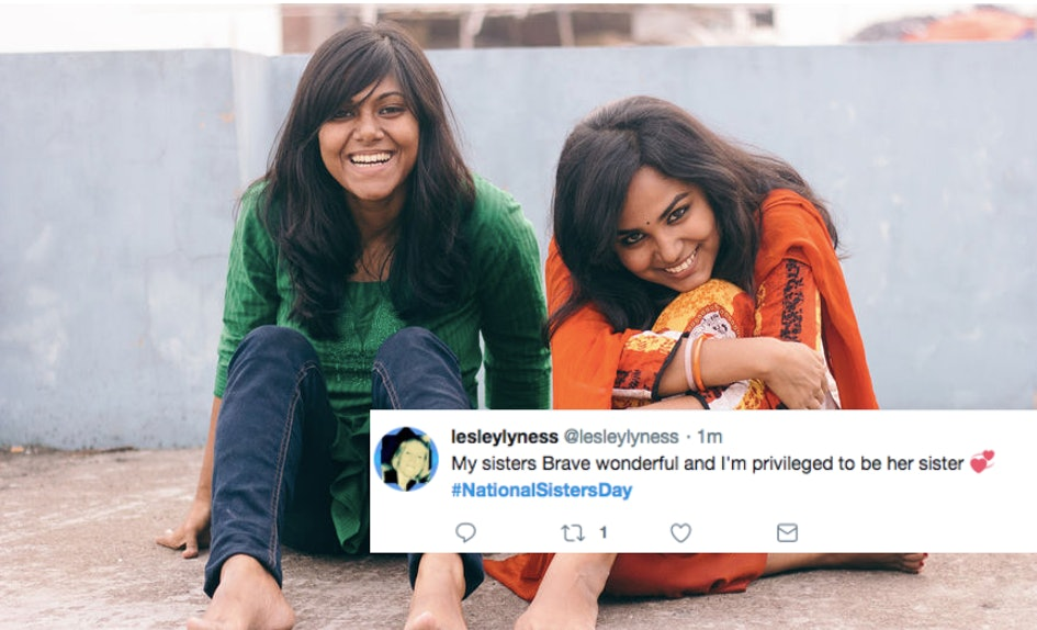 these tweets about national sisters day will make you want to hug