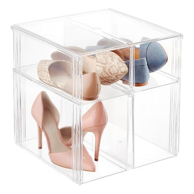 The Container Store Premium Stackable Tall Shoe Bin
