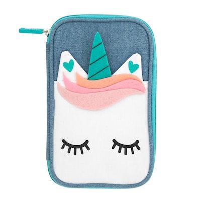 Denim Unicorn Pencil Case