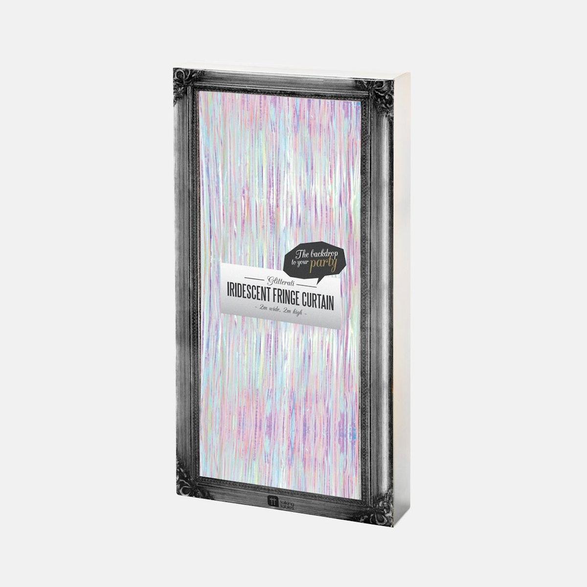 Iridescent Fringe Curtain