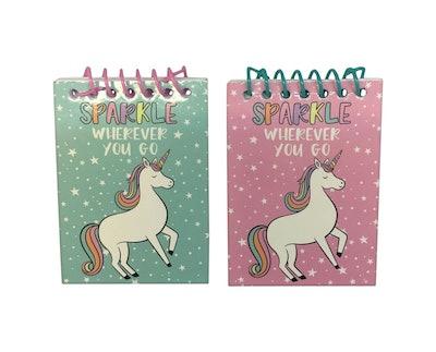 6pk Unicorn Mini Spiral Notebooks