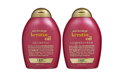 OGX Anti-Breakage Keratin Oil Shampoo And Conditioner Set