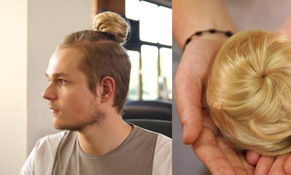 Clip On Man Buns Exist Because Hipster Men Deserve Extensions Too