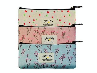 Miayon Countryside Flower Floral Pencil Pen Case