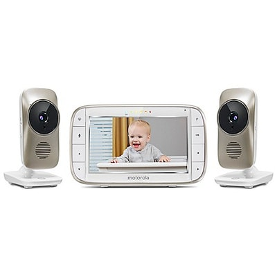 "Motorola® MBP845CONNECT-2 5"" Portable WiFi Video Monitor with 2 Cameras in White"