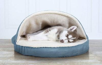 FurHaven Pet Velvet Snuggery Round Pet Bed