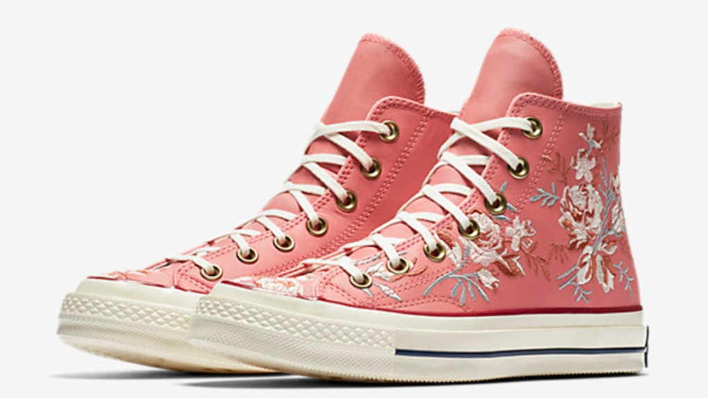 2e3c56b979fead Converse s Floral Embroidered Sneakers Are Blooming With Retro Vibes