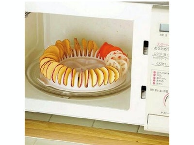 WhitelotousMicrowave Potato Chip Baking Tray