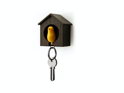 Birdhouse Key Ring